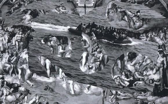 Olga Lewicka, Ohne Titel, 2013, C-print, Collage auf Papier, 21 cm x 29,7 cm<br>