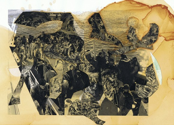 Olga Lewicka, Ohne Titel, 2013, C-print und Schellack auf Papier, 21 cm x 29,7 cm<br>