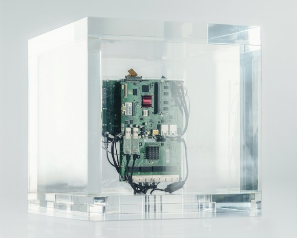 <p>Trevor Paglen, <em>Autonomy Cube</em>, 2015, Courtesy the artist;Metro Pictures, New York; Altman Siegel, San Francisco; Photo: Trevor Paglen Studio</p>