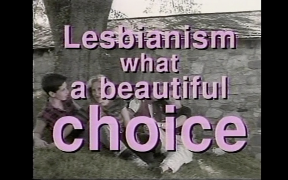 <p>Dyke TV parody of an anti-abortion ad called <em>Life. What a Beautiful Choice.</em>, Courtesy Dyke TV</p>