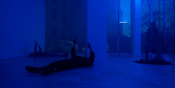 <p>Image: Michele Rizzo, <em>Prospect <E V A></em>, 2019, performance. Courtesy the artist. Photo: Luca Ghedini</p>