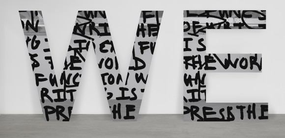 <p>Adam Pendleton, <em>WE (we are not successive)</em>, 2015</p>