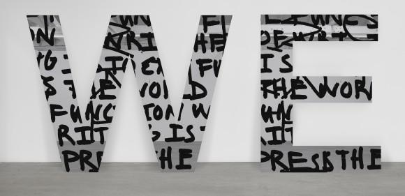 <p>Adam Pendleton, <em>WE (we are not successive)</em>, 2015</p>