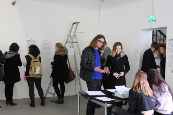 "Visitors during the open workshop ""Gegen-Orte"" on March 12, 2018, photo: Duygu Örs"