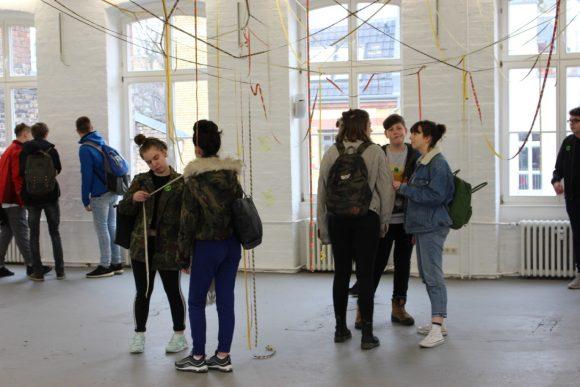 "Visitors during the open workshop ""Gegen-Orte"" on March 12, 2018, photo: Duygu Örs"